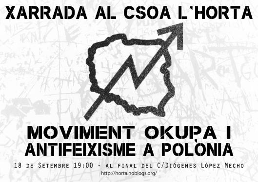 [18.09.13] Valencia, España - charla @ CSOA L'Horta.