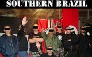 Neonaziści z brazylijskiego gangu - ABC Skinheads, powiązanego z Blood and Honour